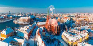 Ostrów Tumski zimą