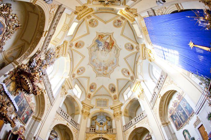 Wambierzyce - wnętrze Bazyliki
