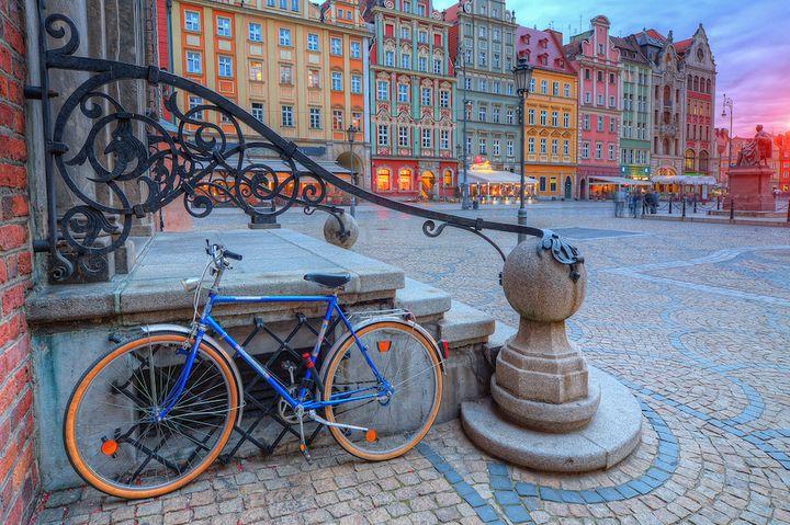 Rower na wrocławskim Rynku