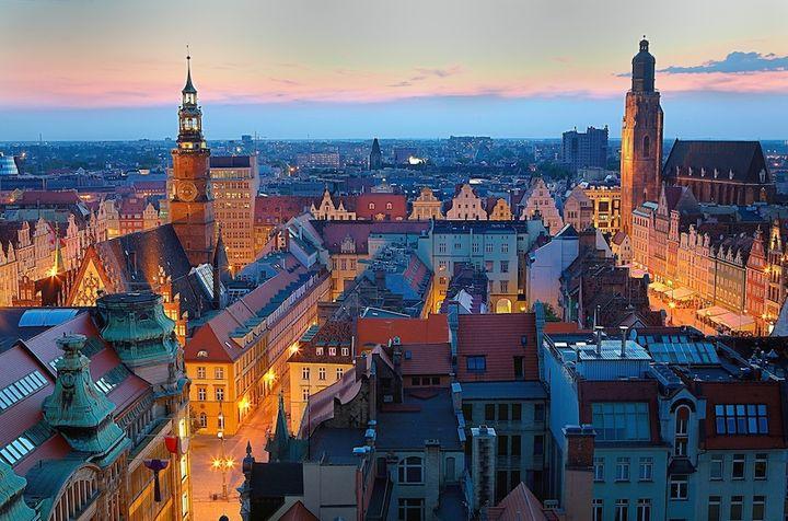 Wrocławski Rynek wieczorową porą