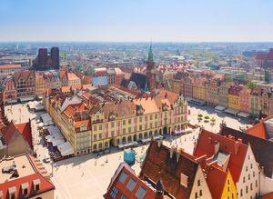Wrocławski Rynek z lotu ptaka