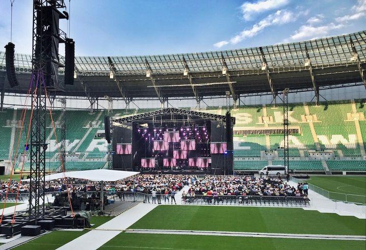 Koncert na stadionie we Wrocławiu