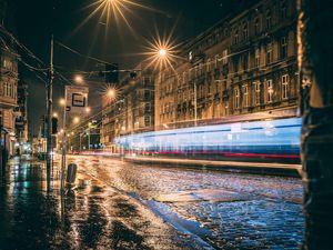 Wrocław Nadodrze nocą