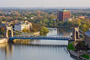Most Grunwaldzki - Wrocław z lotu ptaka