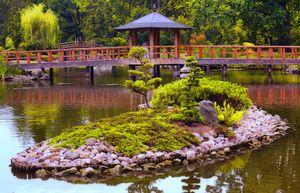 Most prosty na stawie Yumedono Bashi