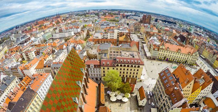 Widok z Katedry Marii Magdaleny - Wrocław