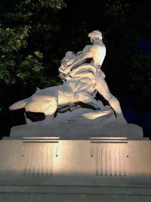 Samson walczący z lwami - Fontanna - Wrocław