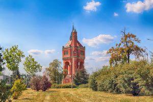 Wieża Ciśnień - Aleja Wiśniowa we Wrocławiu